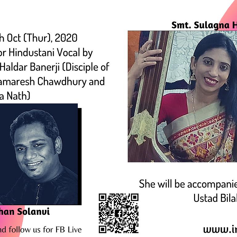 Hindustani Vocal Recital by  Smt. Sulagna Haldar Banerji
