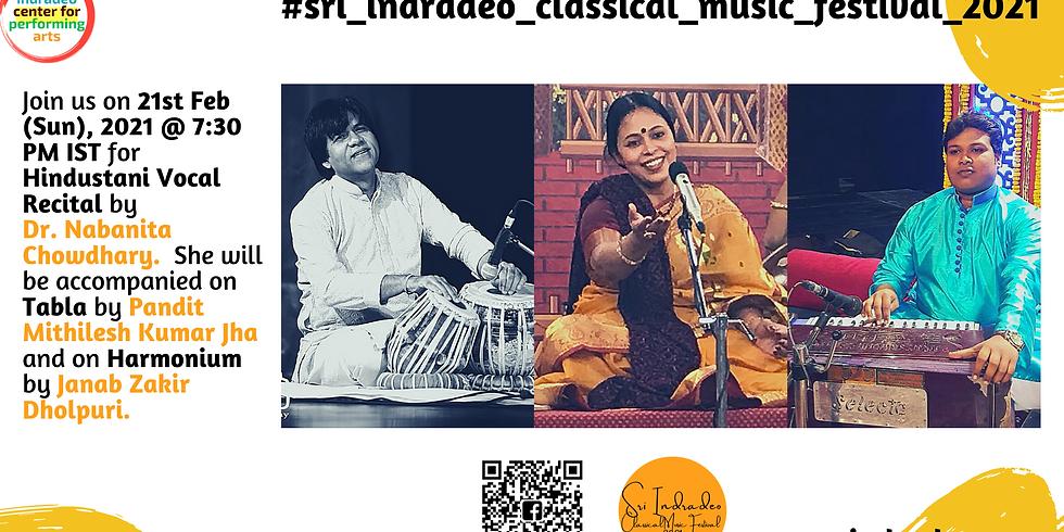 Hindustani Vocal Recital by Dr. Nabanita Chowdhary