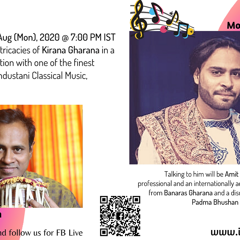 Explore the intricacies of Kirana Gharana with one of the finest exponents of Indian Classical Music - Mohsin Ali Khan
