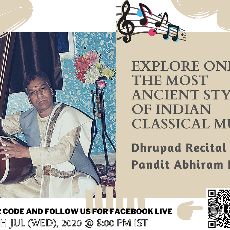 Explore one of the most ancient styles of Indian Classical Music - Dhrupad Recital by Pandit Abhiram Pathak