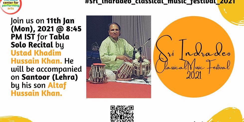 Tabla Solo Recital by Ustad Khadim Hussain Khan