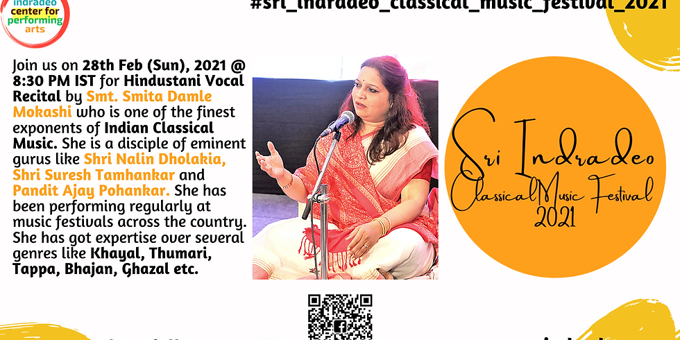 Hindustani Vocal Recital by Smt. Smita Damle Mokashi