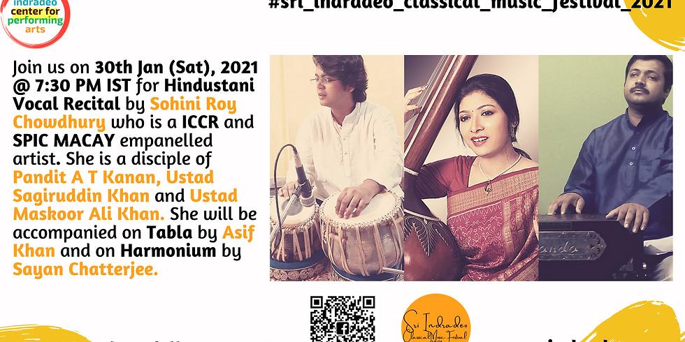 Hindustani Vocal Recital by Sohini Roy Chowdhury