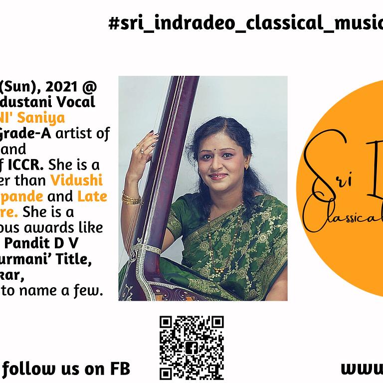 Hindustani Vocal Recital by 'SURMANI' Saniya Patankar