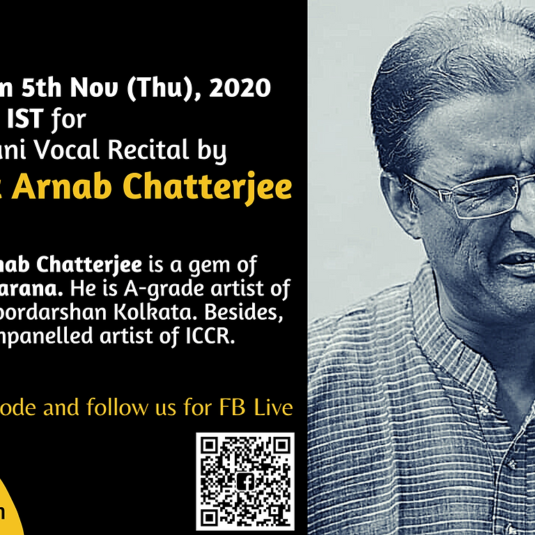Hindustani Vocal Recital by Pandit Arnab Chatterjee
