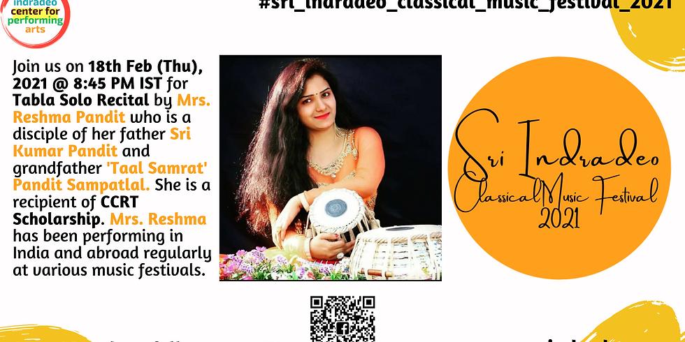 Tabla Solo Recital by Mrs. Reshma Pandit