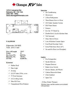 Sales sheet picture