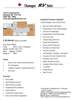 C24 Four Winds Sales Sheet