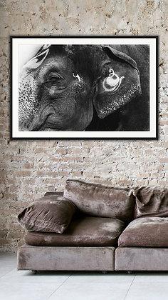LAXMI TEMPLE ELEPHANT INDIA by PREMGIT