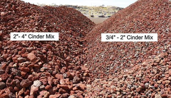Large and Medium Cinder Mix Comparison