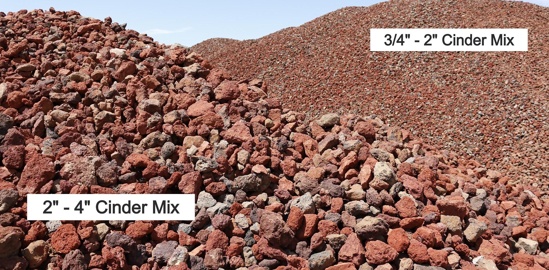 Large Cinder Mix and Medium Cinder Mix Compared