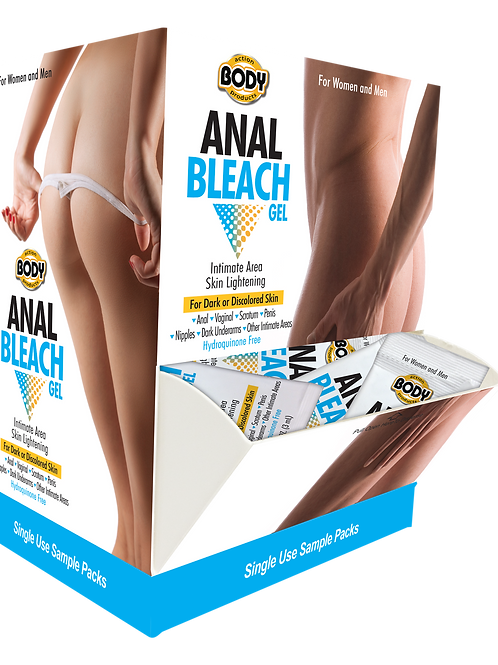 Body Action Anal Bleach Gel Sample Packet Box Display
