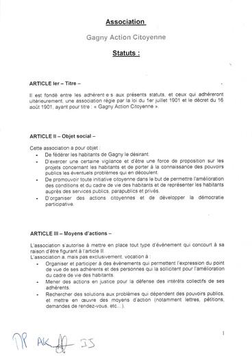 STATUTS page 1/4