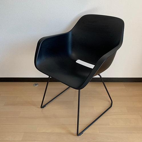 Captain's chairブラック(スライディングレッグ)3