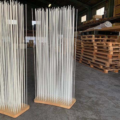 Sticksナチュラルウッド(ワイドカーブ)×rodsホワイトH150(右)