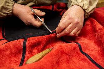 熟練された裁断と縫製