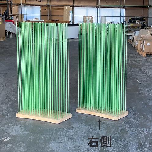 Sticksナチュラルウッド(ワイドカーブ)×rodsグリーンH120(右)