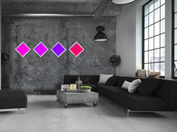 living with simple Blue DIAMOND3 IN PINK