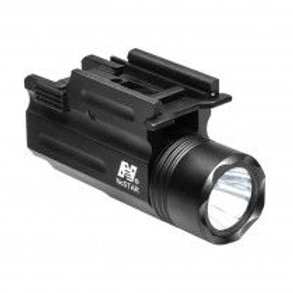 COMPACT PISTOL AND RIFLE FLASHLIGHT-GREEN LASER/QUICK RELEASE WEAVER MOUNT