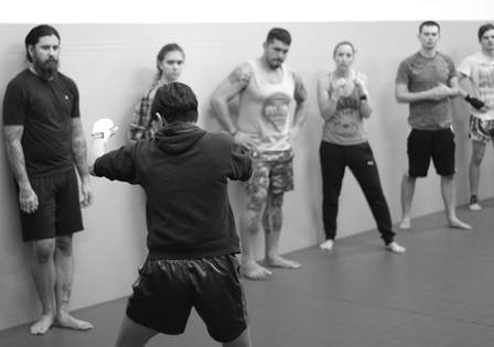 Angela Teaching Muay Thai