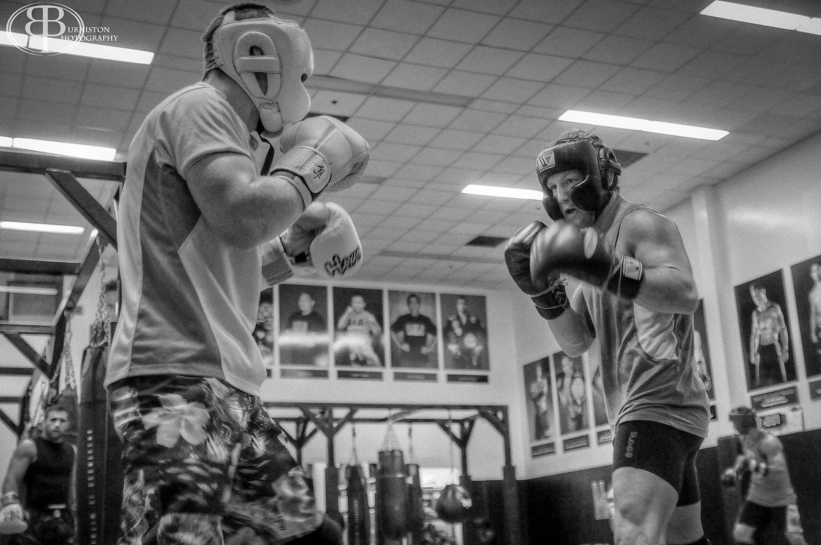 Mac Danzig and Gray Maynard sparring