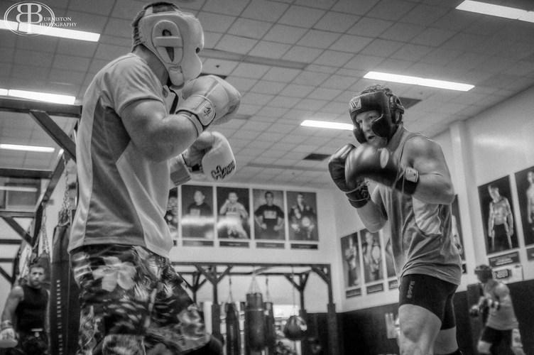Mac Danzig and Gray Maynard sparring