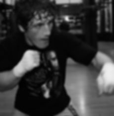 Mac Danzig shadow boxing - Danzig MMA - Photo by Eric Williams