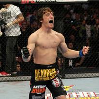 Mac Danzig celebrates his knockout victory over Joe Stevenson