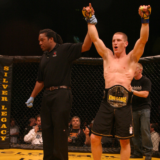 Mac Danzig wins the King of the Cage World Lightweight Championship.