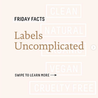 Friday Facts - labels