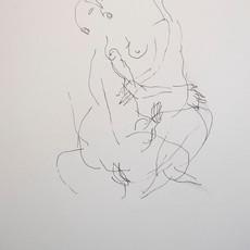 Monter les enfers 4, 2019 encre sur papier 40 x 30 cm © Maral Bolouri