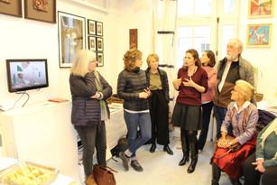 Visite dans l'atelier de Randa Maddah ©Dunia Al Dahan