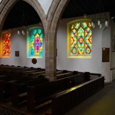 RITOURNELLE Vue de l'installation à Saint John the Baptist, Newcastle, octobre 2017  © Katia Kameli, ADAGP