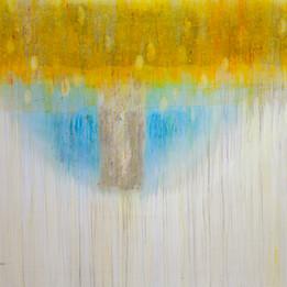 Cocoon, 2014 Techniques mixtes sur toile 155 x 200 cm © Walid El Masri