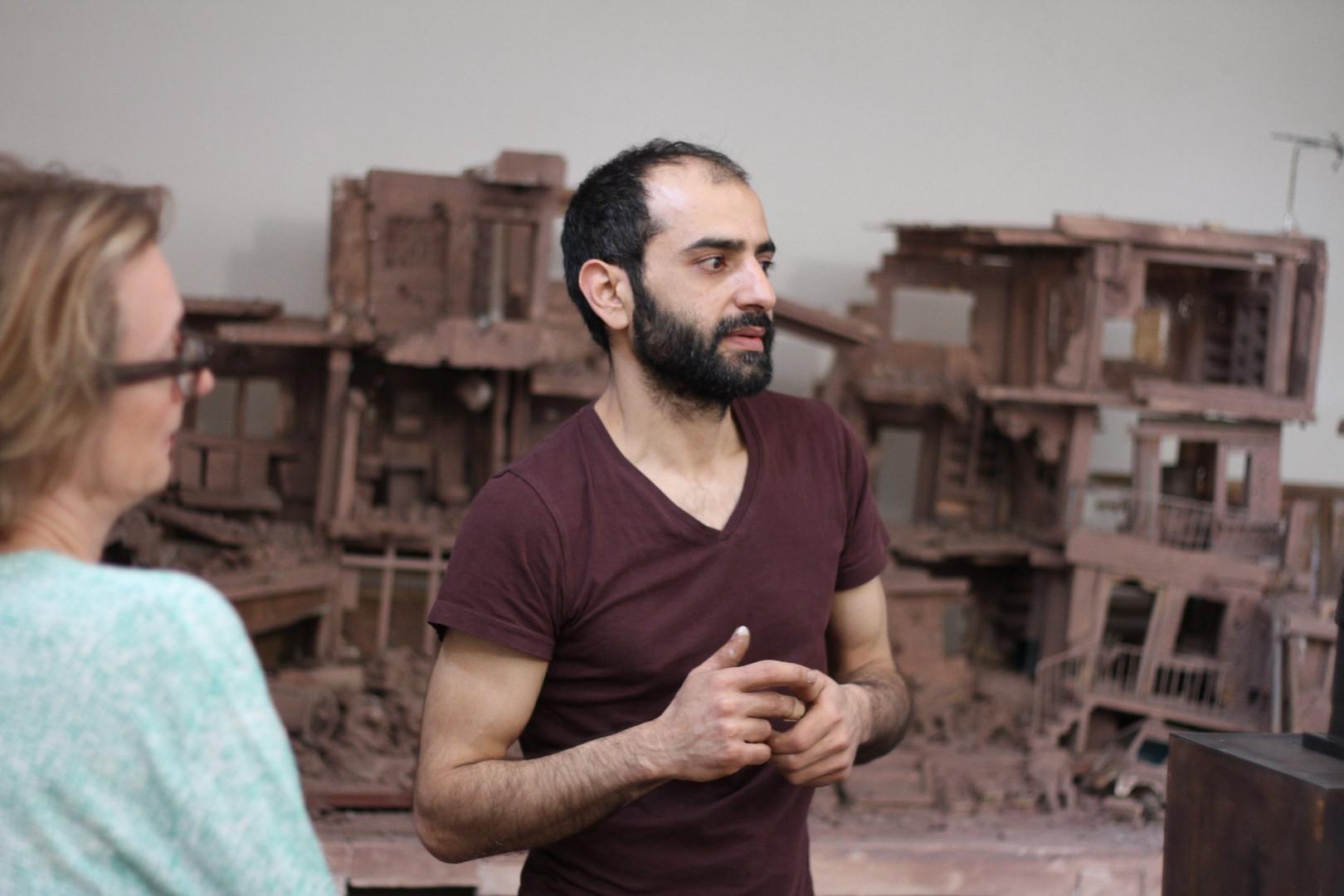 Khaled Dawwa dans son atelier  ©Randa Maddah
