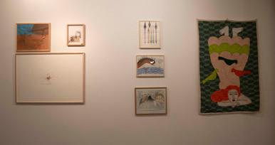 Œuvres de Nour Asalia, Farah Khelil, Magdi Masaara et Kholod Hawash  ©Paul-Henri Nivet