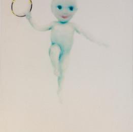 Children, 2015  Techniques mixtes sur toile  130 x 97 cm  © Walid El Masri