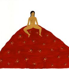 Red Carpet, 2019 Gouache sur papier 65,5 x 74,5 cm ©Kubra Khademi