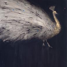 Peacock, 2018 Techniques mixtes sur toile 130 x 97 cm  © Walid El Masri