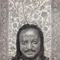 A Man should be a man, Portrait of Binyavanga Wainaina, Destiny II, 2016 photocopie transfert et stylo sur papier 18.5 x 27 cm  © Maral Bolouri