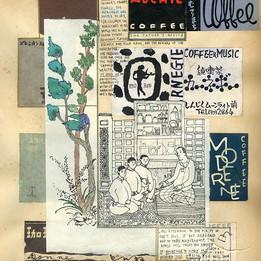 The Father's Advice Dessin et collage sur papier d'archive 22 x 29 cm