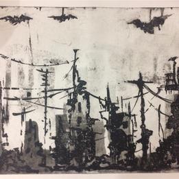 Planche 19, 2017 Sucre sur papier hahnemühle    35 x 50 cm © Azza Abo Rebieh