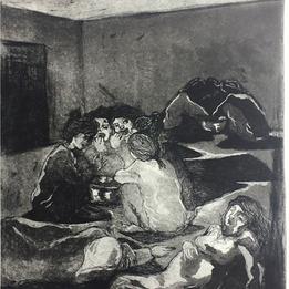 Planche 11, 2018 gravure à l'eau forte sur papier hahnemühle    33.50 x 24 cm © Azza Abo Rebieh