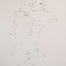 Monter les enfers 1, 2019 encre sur papier 40 x 30 cm © Maral Bolouri