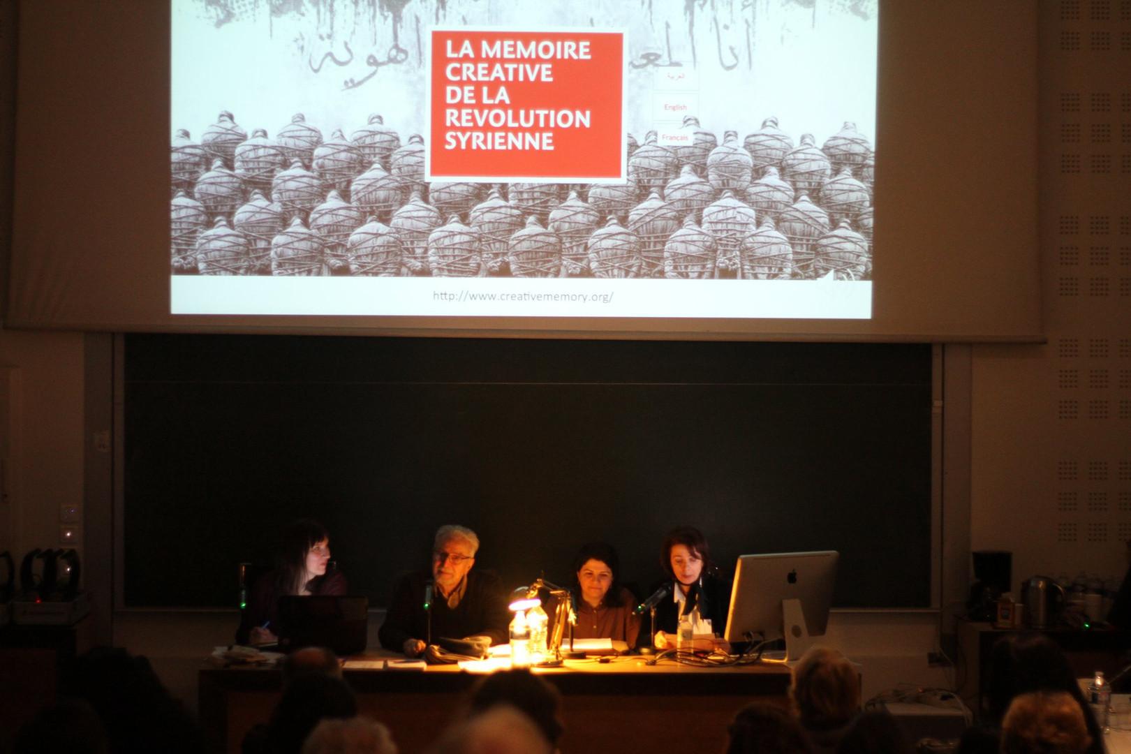 Cécile Boex, Farouk Mardam Bey, Nour Asalia et Sana Yajizi ©Dunia Al Dahan