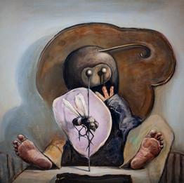 Al-Sheeb, 2018 Huile sur toile  80 x 100 cm  © Akram Al Halabi