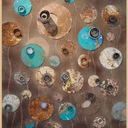 Circle and Hollow 3, 2013 Médias mixtes sur papier cartonné 125 x 100 cm  © Yacob Bizuneh
