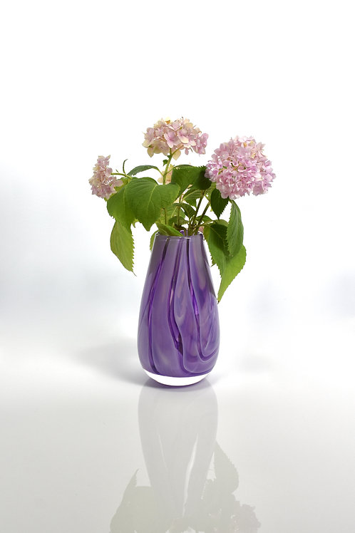 Swirl Vase in Purple