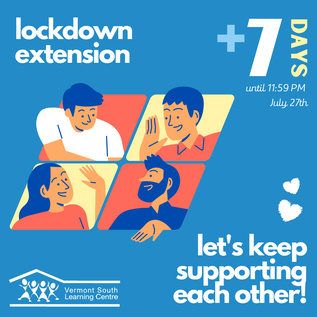 Lockdown extended until 11:59pm 27th of July