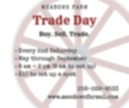 trade day Every 2nd Saturday May through